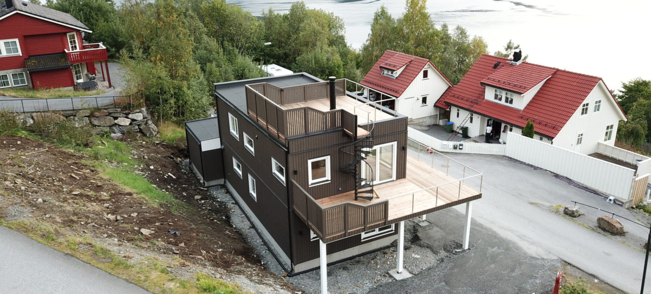 Production of new houses in a series of two-storey modular cottages for the Norwegian market.